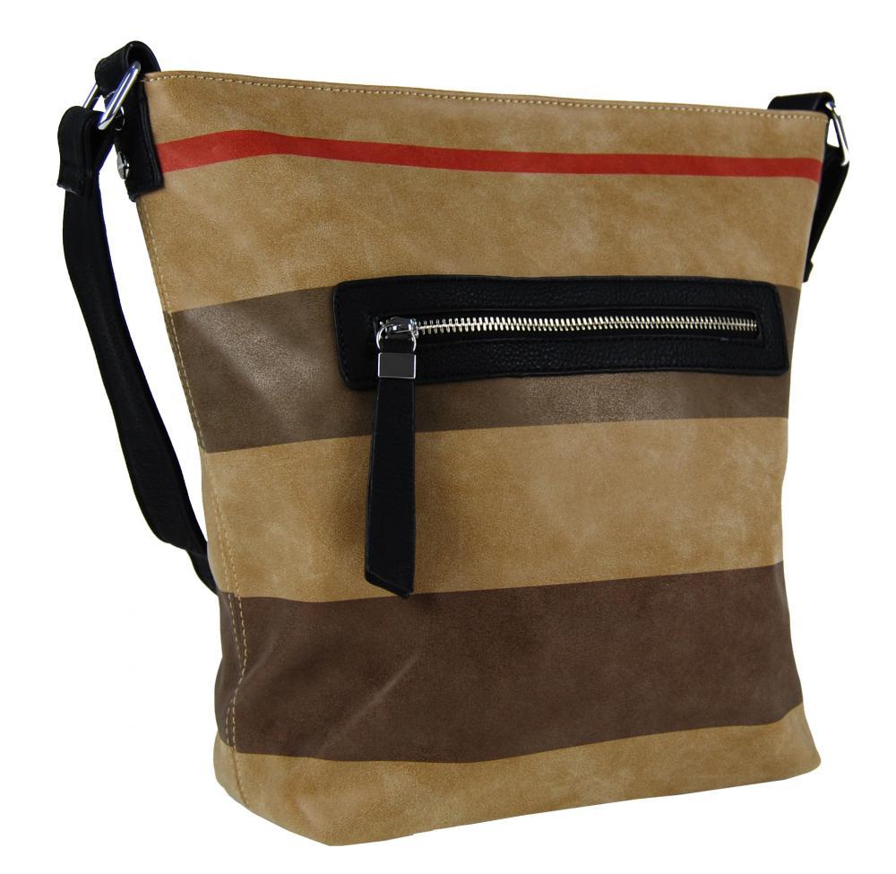 NEW BERRY Crossbody dámská kabelka z kvalitní broušené ekokůže