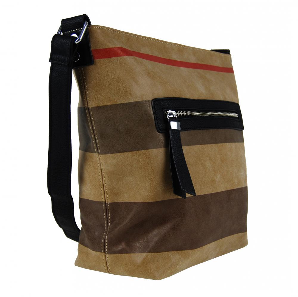 Crossbody kabelka z broušené kůže TH2035