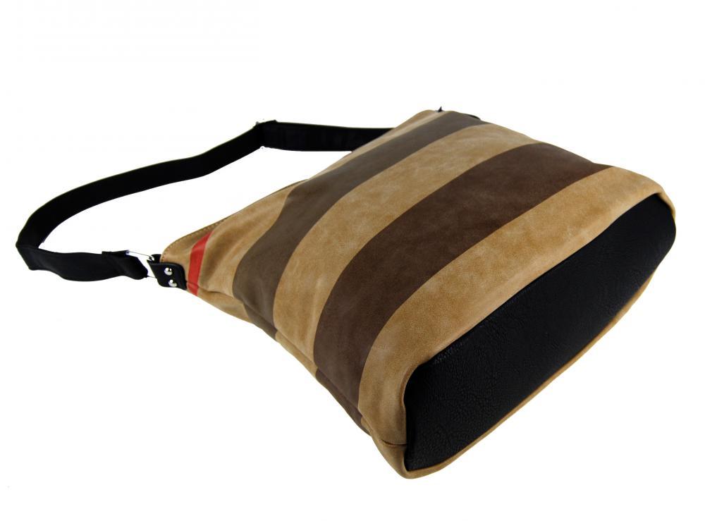 Crossbody kabelka z broušené kůže TH2036