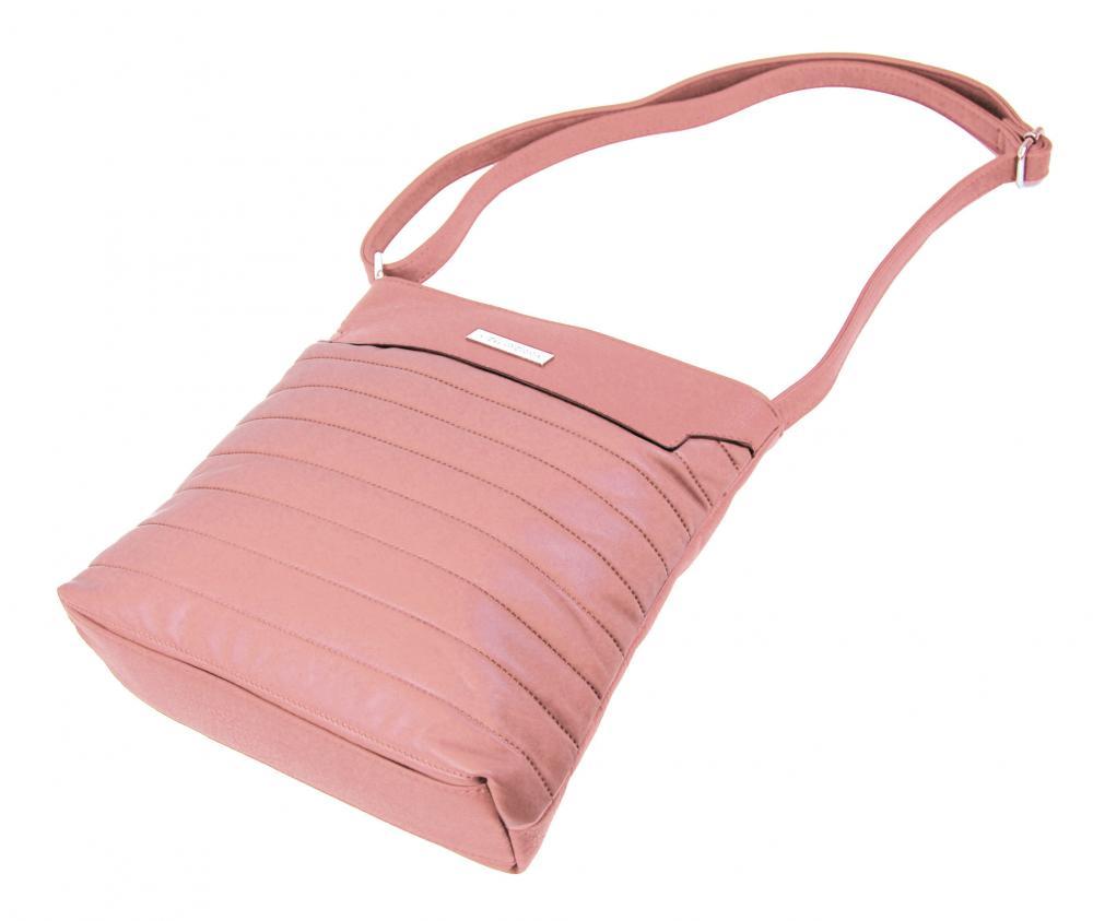 Elegantní prošívaná crossbody kabelka YH1603 růžová