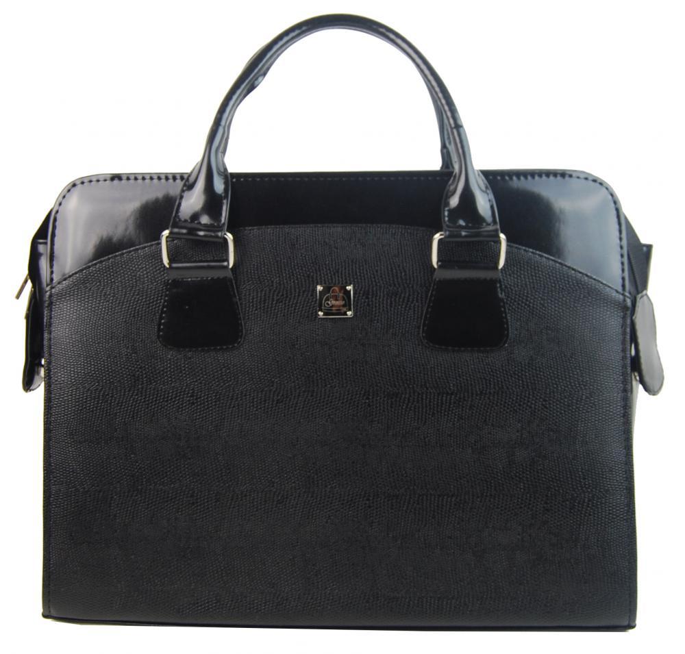 Dámská luxusní taška na notebook černá hadí kůže ST01 15.6