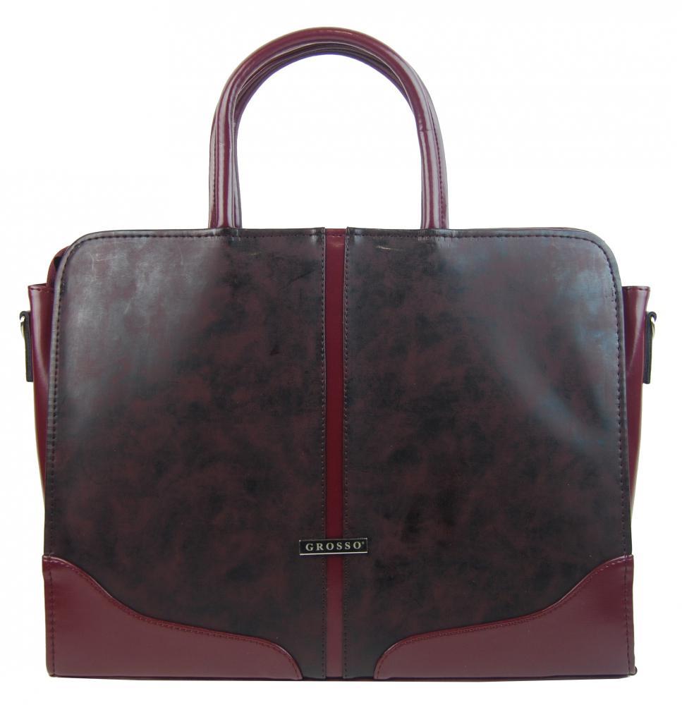 GROSSO Vínová matná dámská taška na notebook do 15.6 palce
