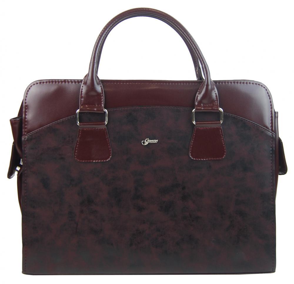 GROSSO Dámská vínová matná taška na notebook do 15.6 palce