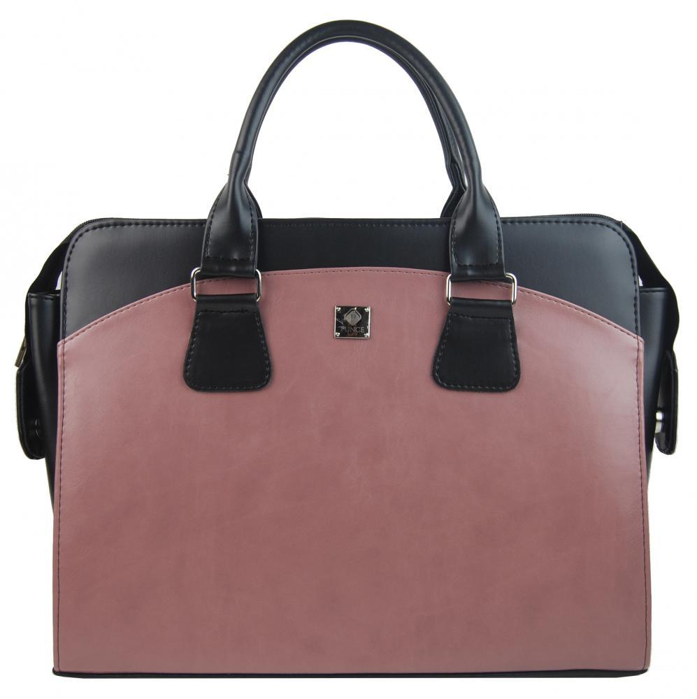 PUNCE Starorůžová matná dámská taška na notebook do 15.6 palce