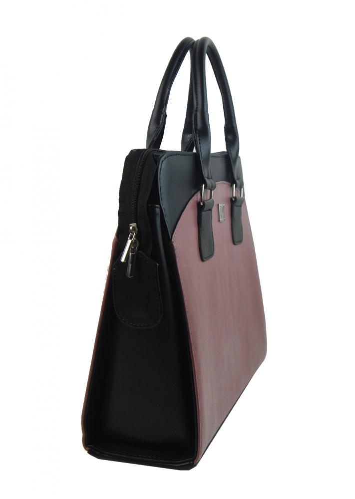 PUNCE LC-01 staroružová matná dámska kabelka pre notebook do 15.6 palca