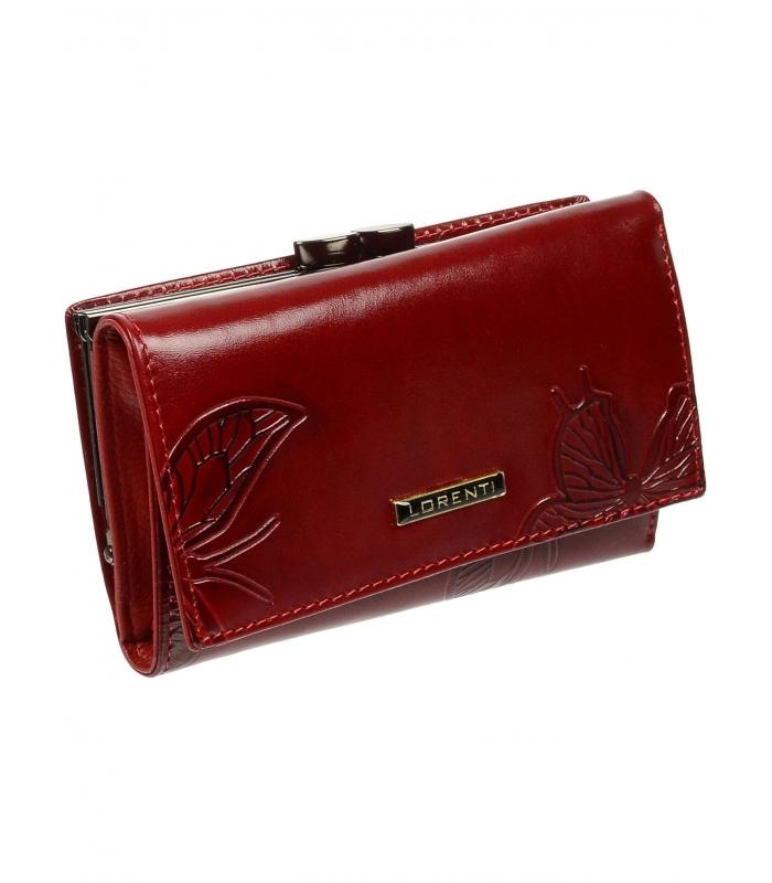 Lorenti červená dámska kožená peňaženka v darčekovej krabičke