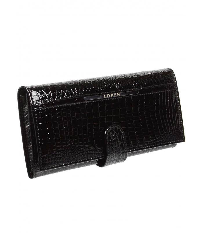 LOREN Kožená dámská lakovaná peněženka JP-515-RS