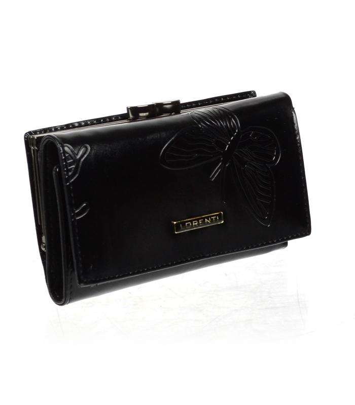 Lorenti čierna dámska kožená peňaženka v darčekovej krabičke