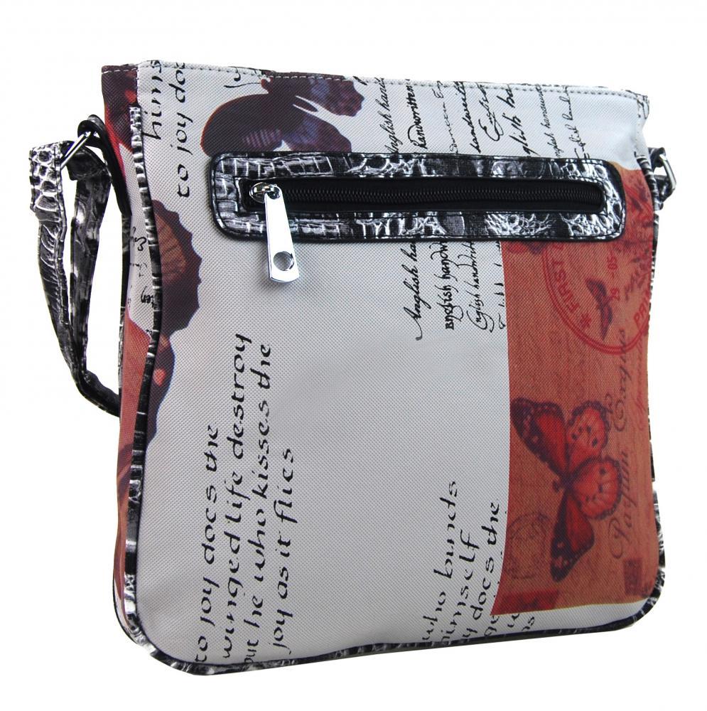 TAPPLE dámská kabelka crossbody červeno-hnědá