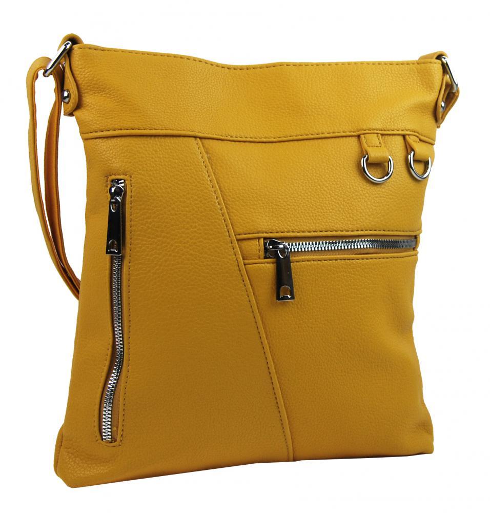 Banánovo žltá crossbody dámska kabelka Mahel 335-MH
