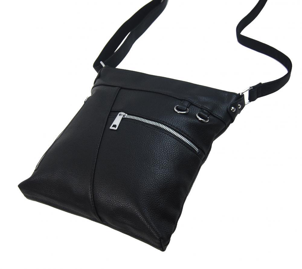 Černá crossbody dámská kabelka MAHEL 335-MH