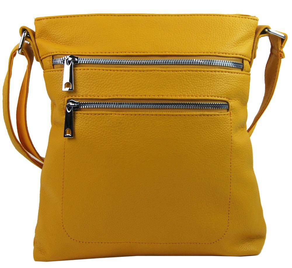 Banánovo žltá crossbody dámska kabelka Mahel 336-MH