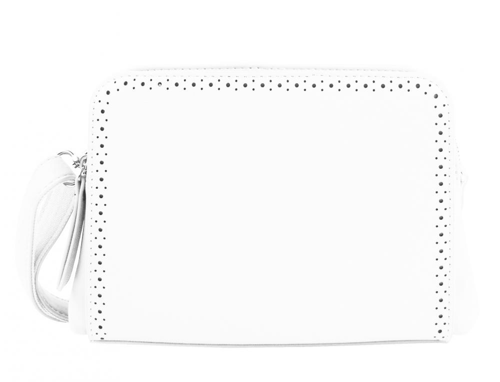 Bílá crossbody dámská kabelka se dvěma oddíly BELLA BELLY