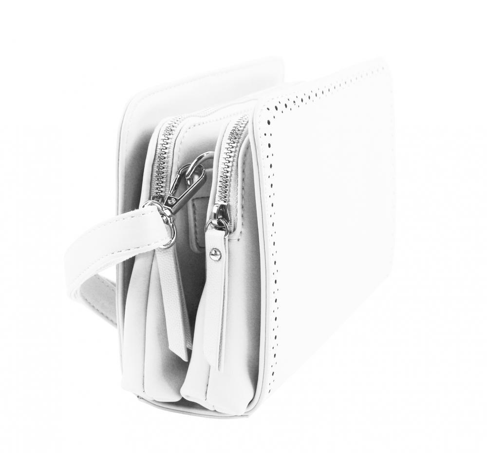 Biela crossbody dámska kabelka s dvoma oddielmi BELLA BELLY
