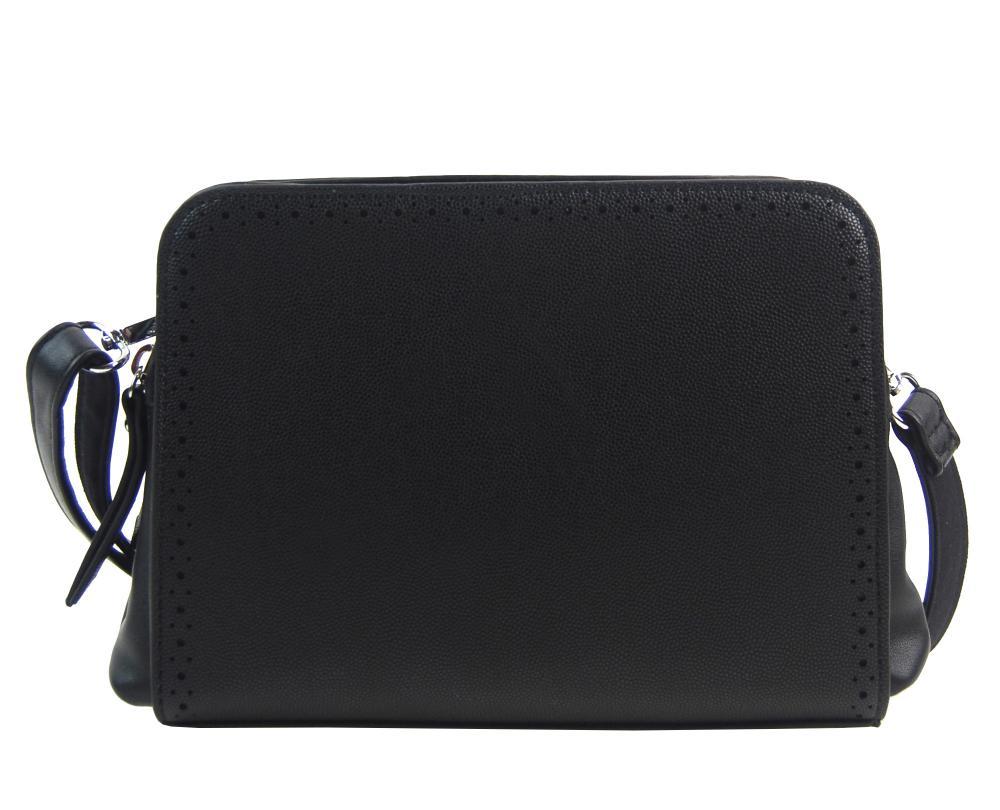 Černá crossbody dámská kabelka se dvěma oddíly BELLA BELLY