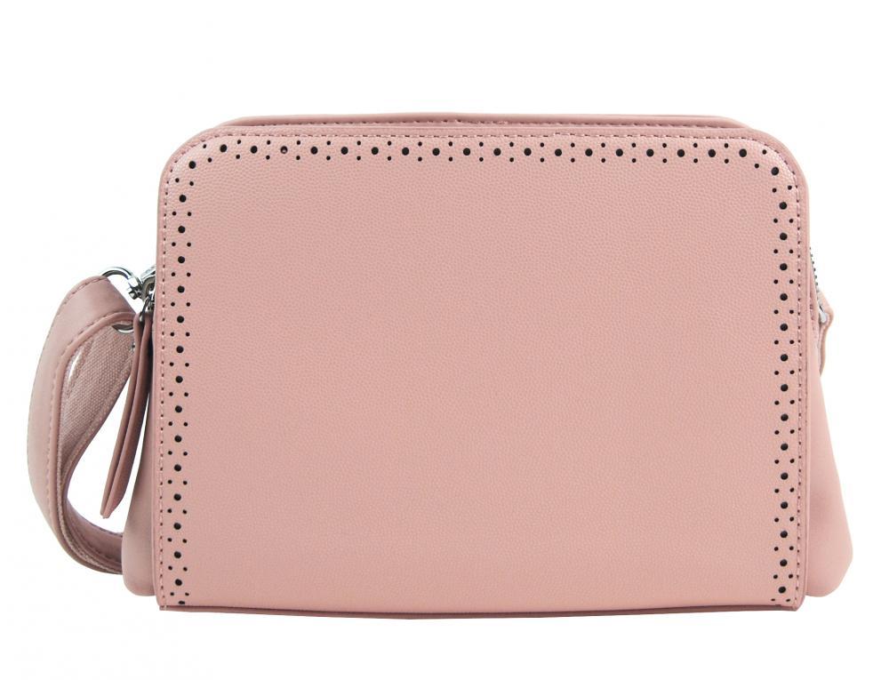 Růžová crossbody dámská kabelka se dvěma oddíly BELLA BELLY