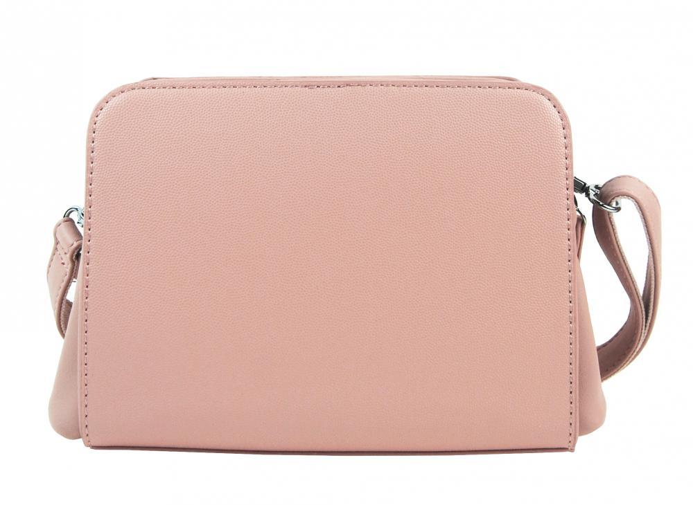 Ružová crossbody dámska kabelka s dvoma oddielmi BELLA BELLY