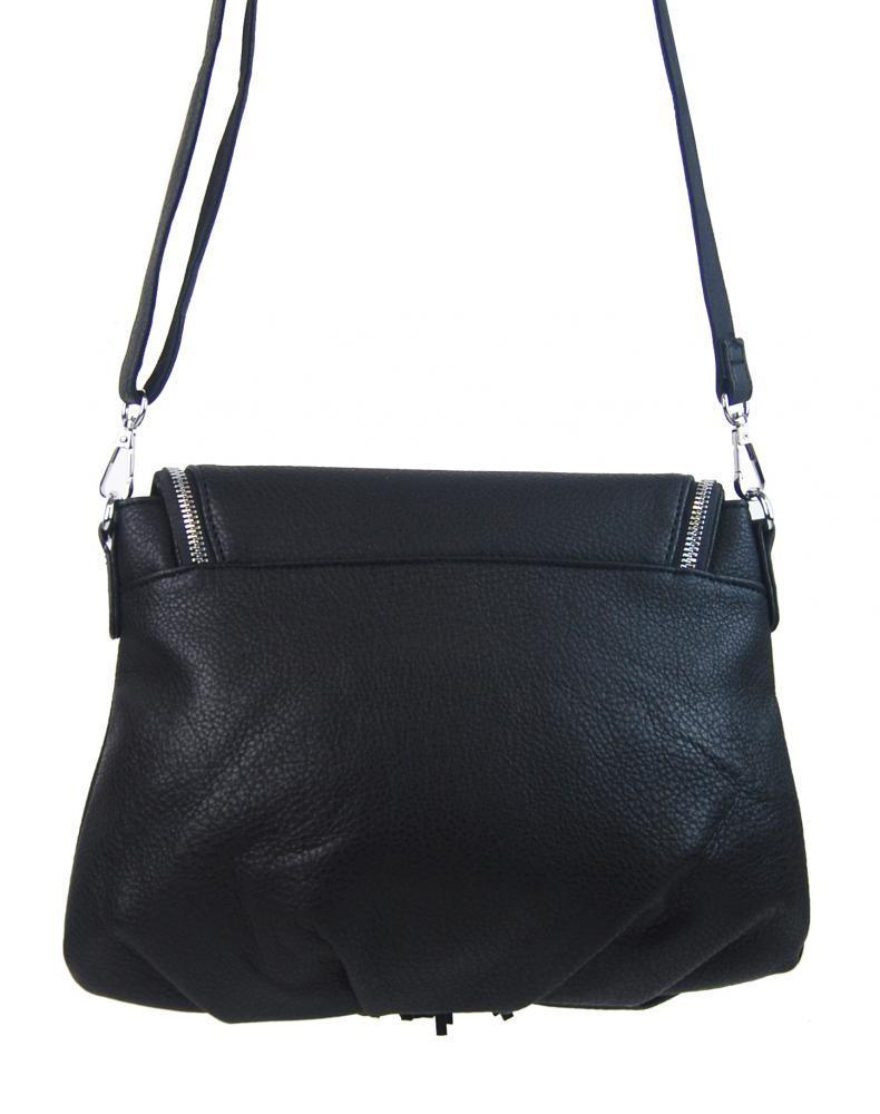 Černá crossbody dámská kabelka s magnetem 5458-BB
