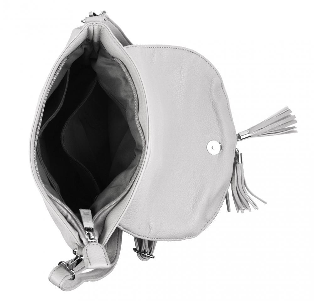 Svetlo sivá crossbody dámska kabelka s magnetom 5458-BB
