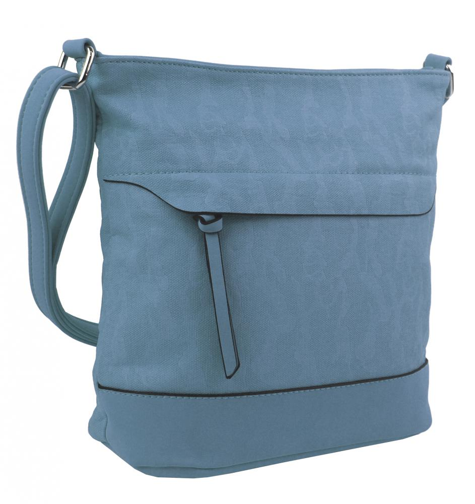 Crossbody kabelka s čelní zipovou přihrádkou HB062 modrá