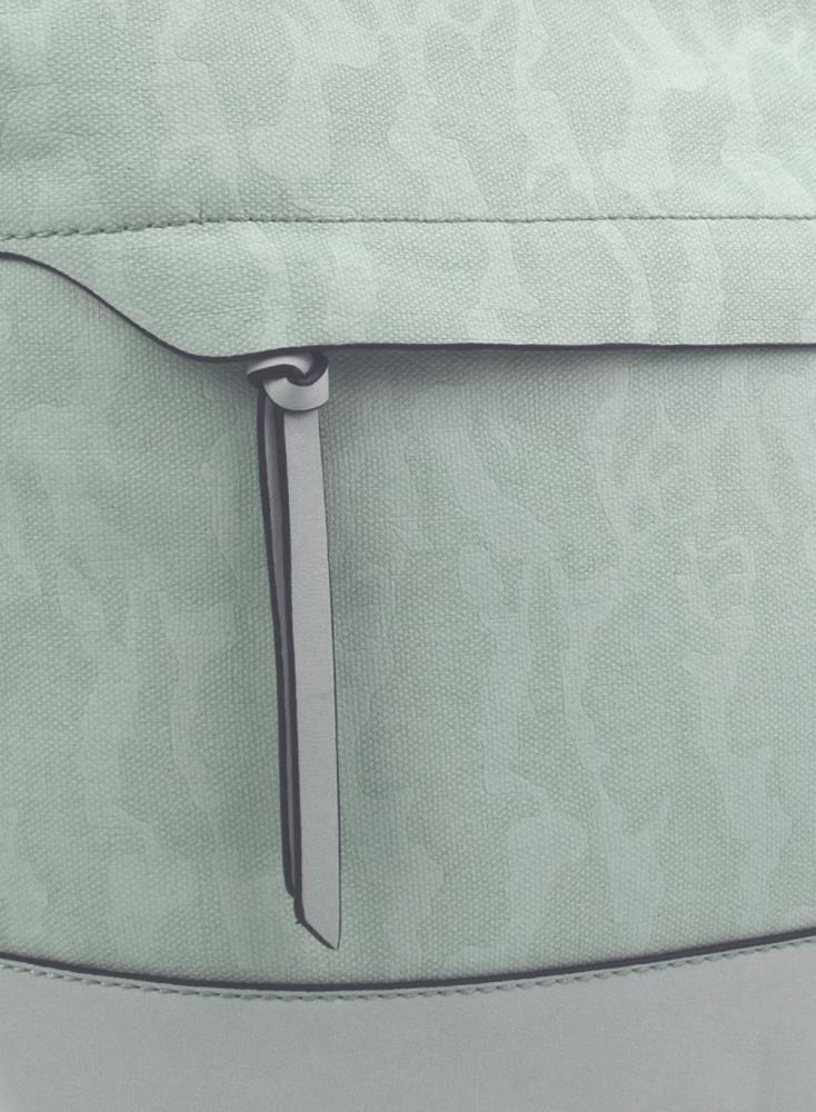 Crossbody kabelka s čelní zipovou přihrádkou HB062 světlá aqua modrá