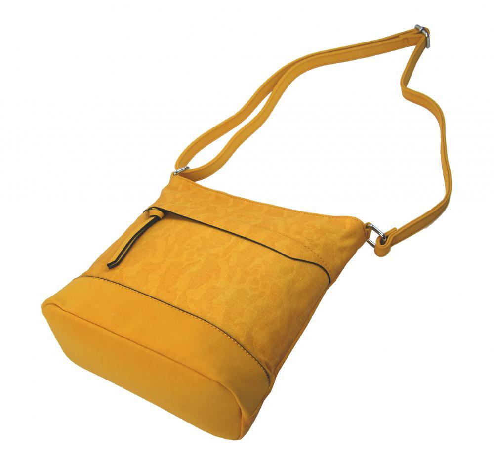 Crossbody kabelka s čelní zipovou přihrádkou HB062 banánová žlutá