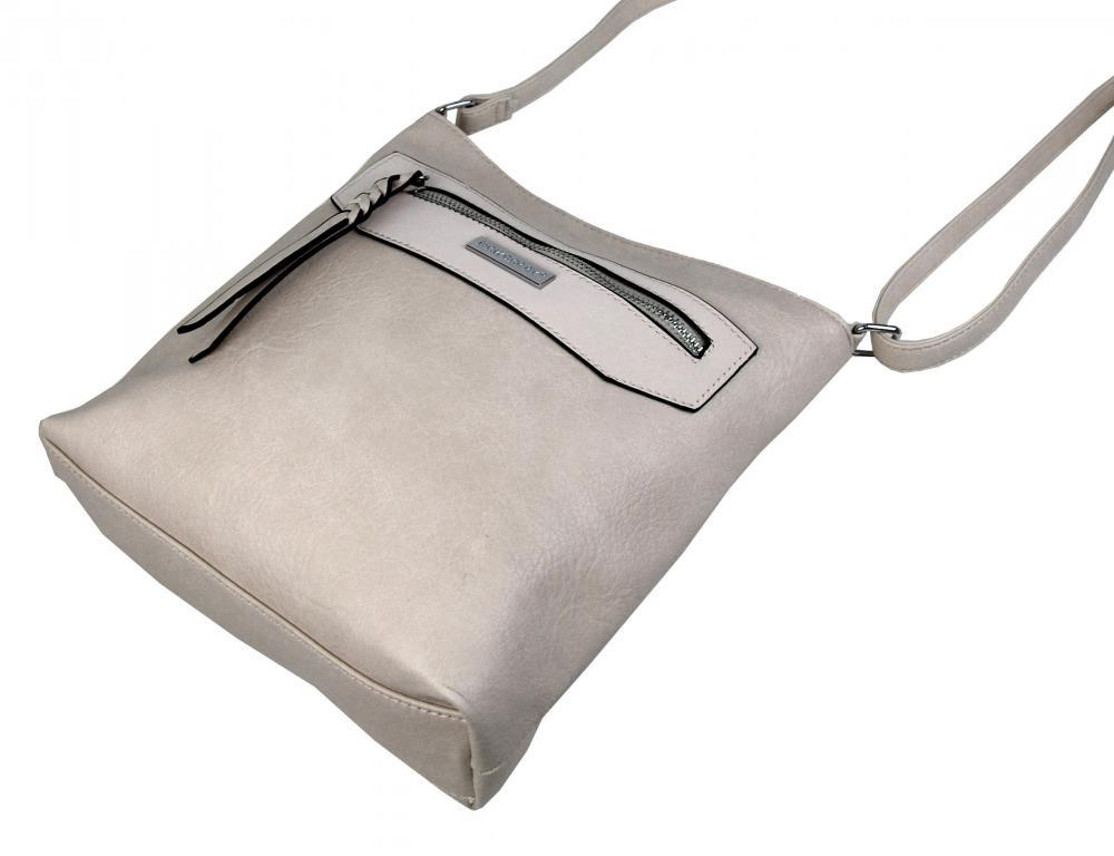Dámská crossbody kabelka NH8041 šedo-béžová