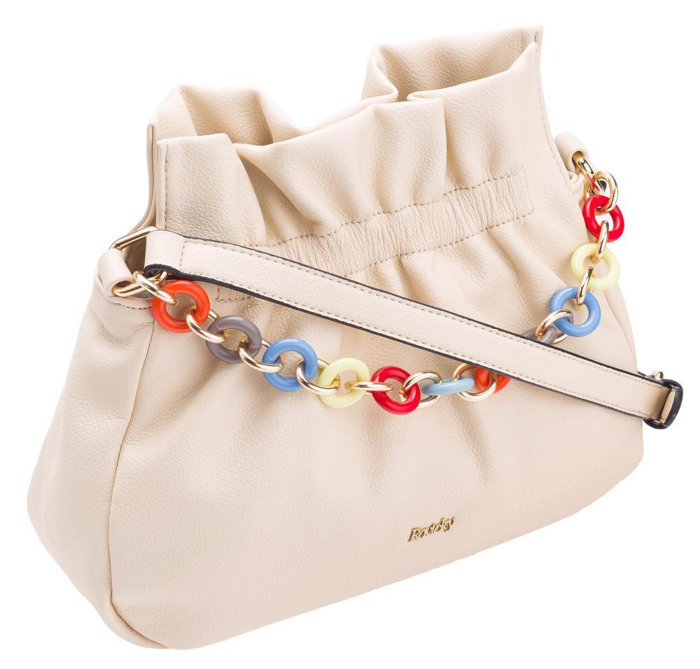 Béžová crossbody dámská kabelka ROVICKY