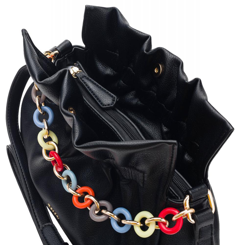 Čierna crossbody dámska kabelka ROVICKY