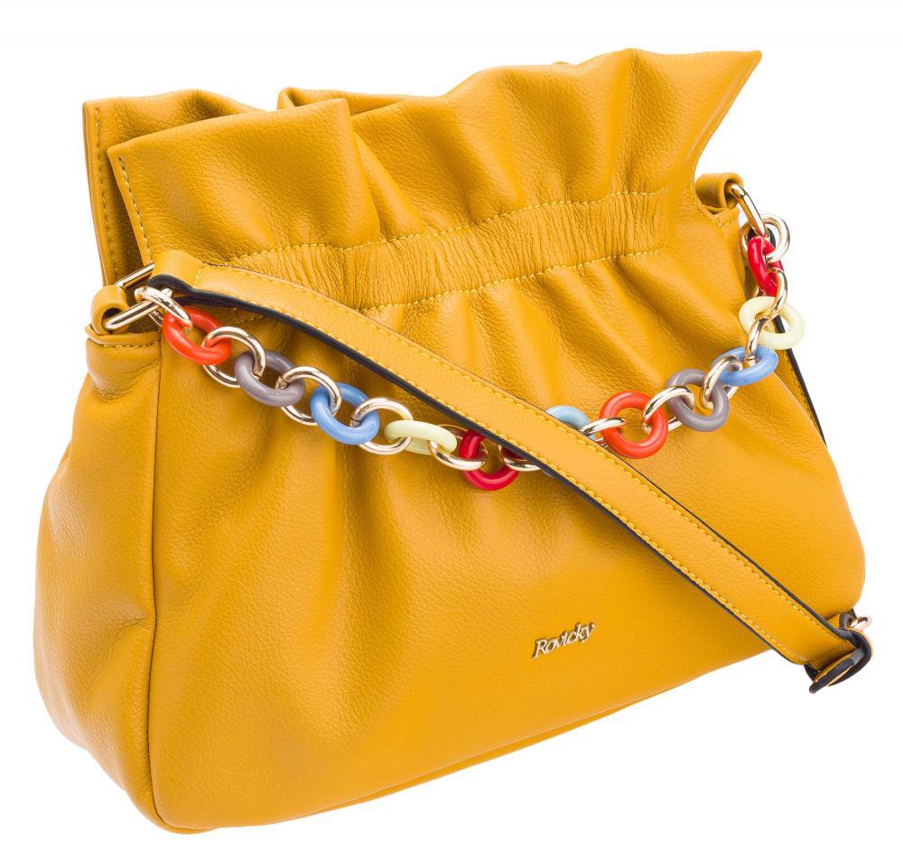 Žltá crossbody dámska kabelka ROVICKY
