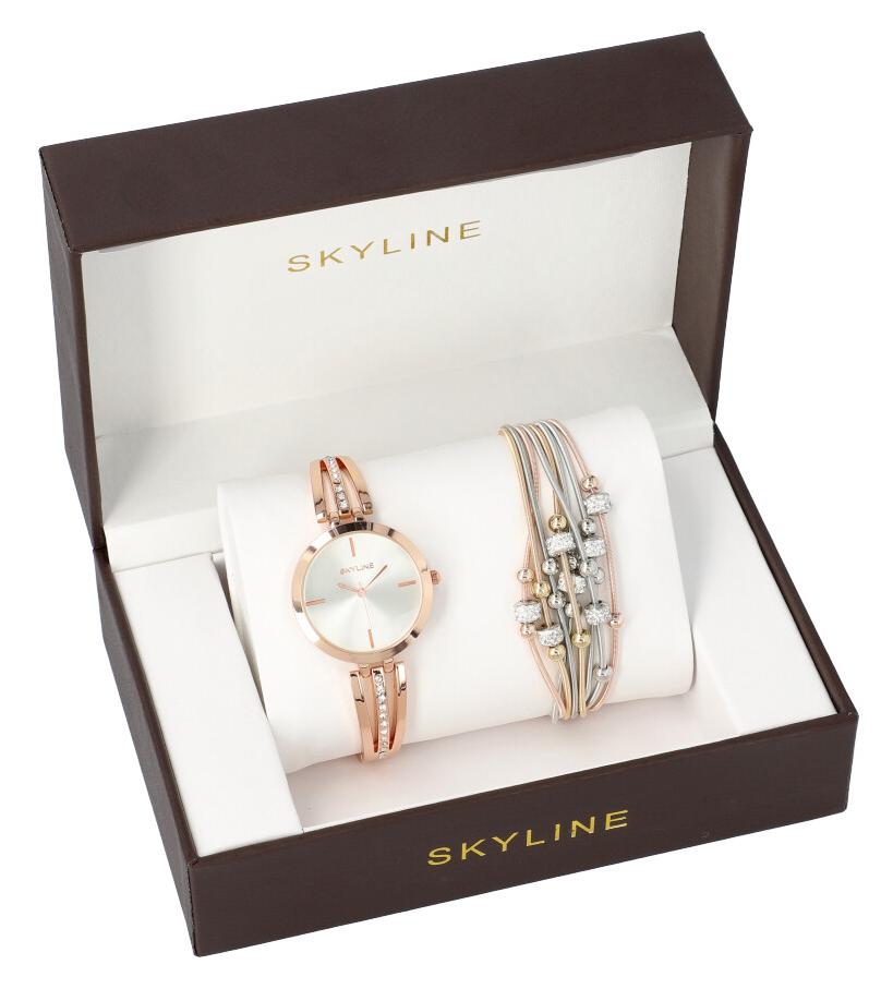 SKYLINE dámska darčeková sada zlaté hodinky s náramkom 2950-29