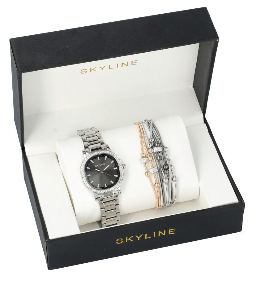 SKYLINE dámska darčeková sada strieborné hodinky s náramkom 2950-21
