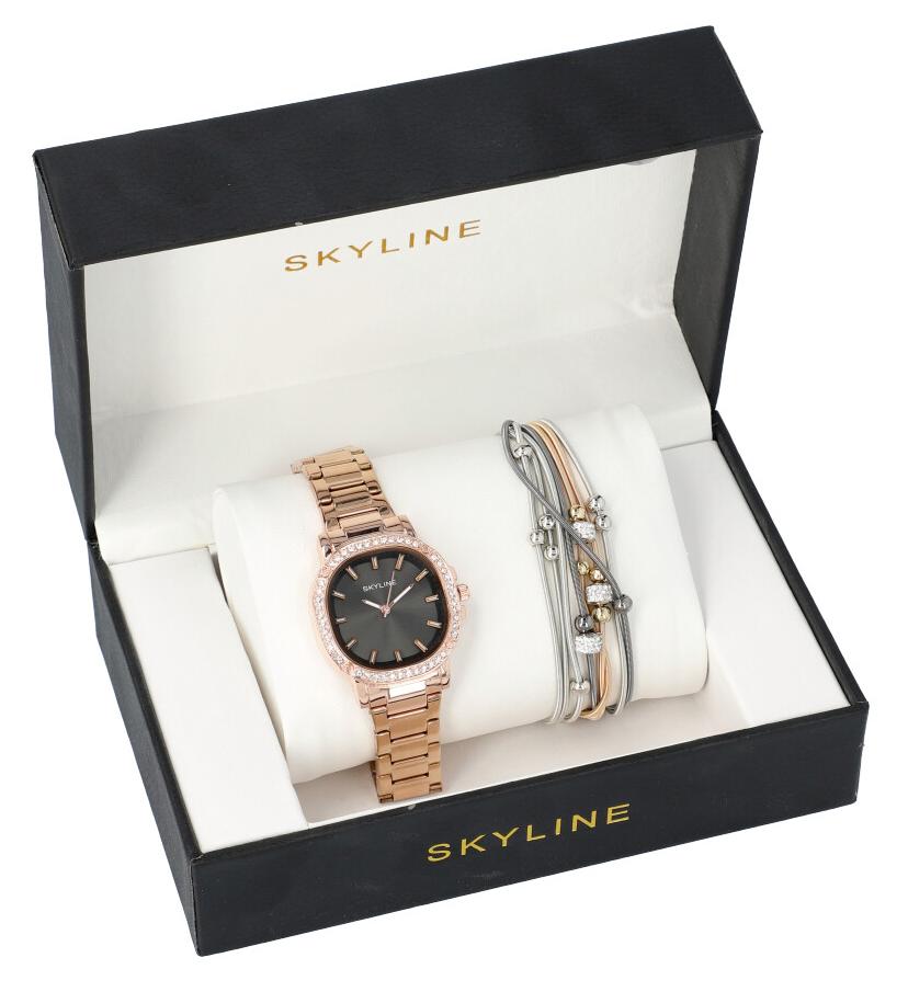 SKYLINE dámska darčeková sada zlaté hodinky s náramkom 2950-22