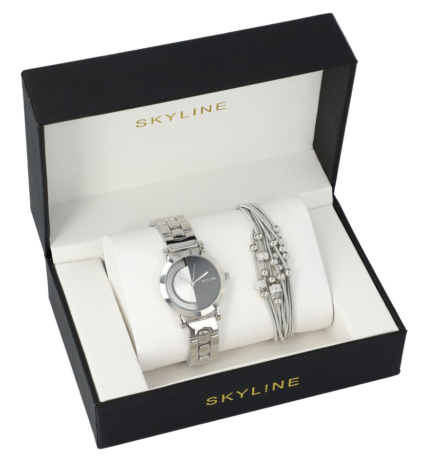SKYLINE dámská dárková sada hodinky s náramkem MP009
