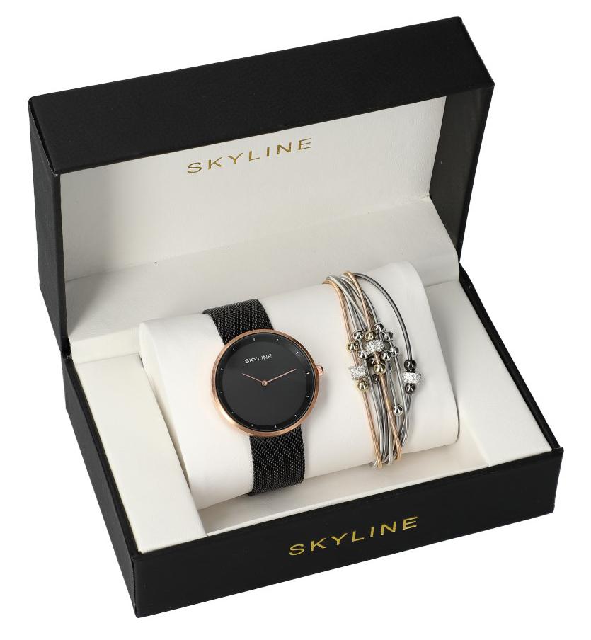 SKYLINE dámská dárková sada hodinky s náramkem MP010