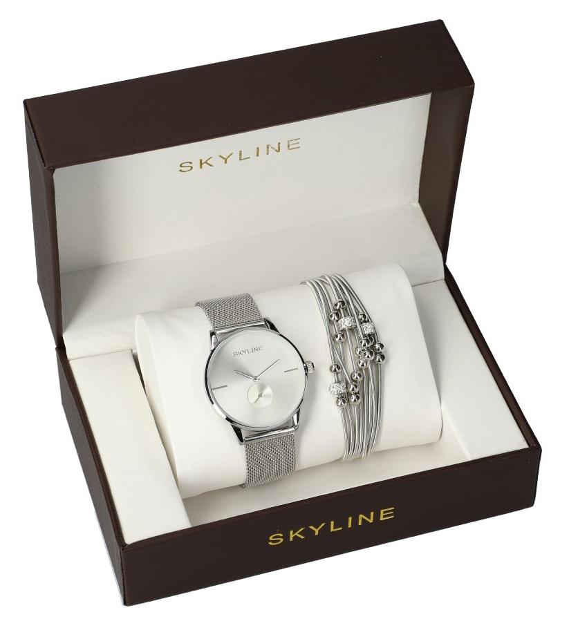 SKYLINE dámská dárková sada hodinky s náramkem MP017