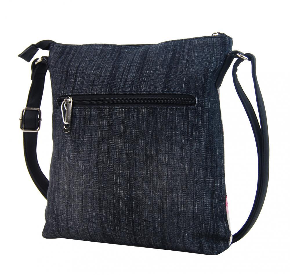 Džínsová dámska crossbody kabelka čierno-šedá H17293