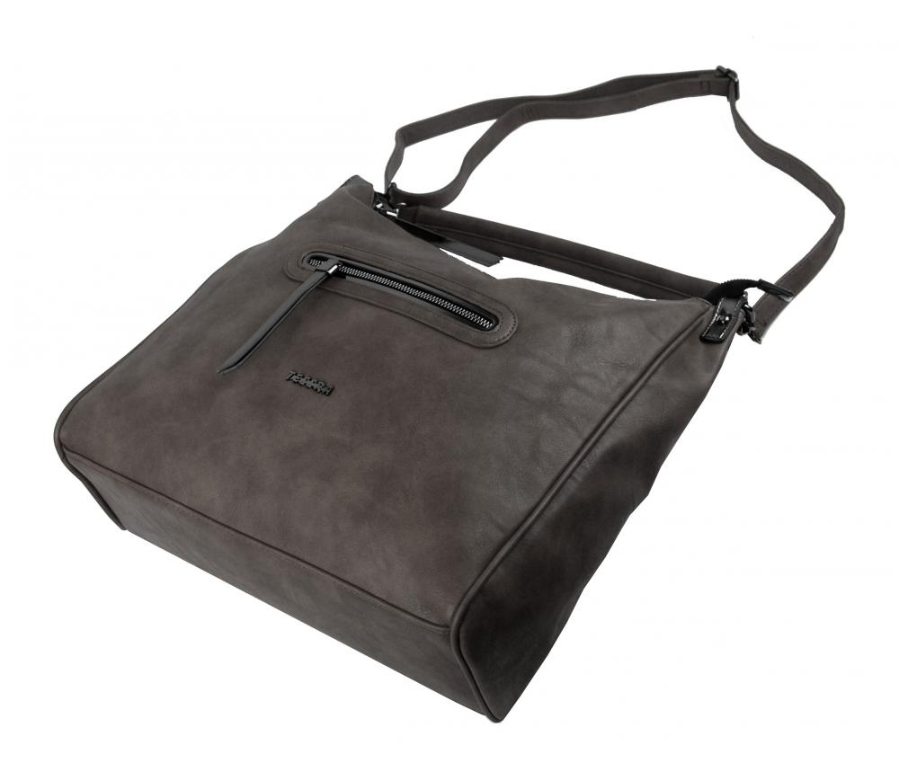Velká šedá dámská kabelka přes rameno TESSRA