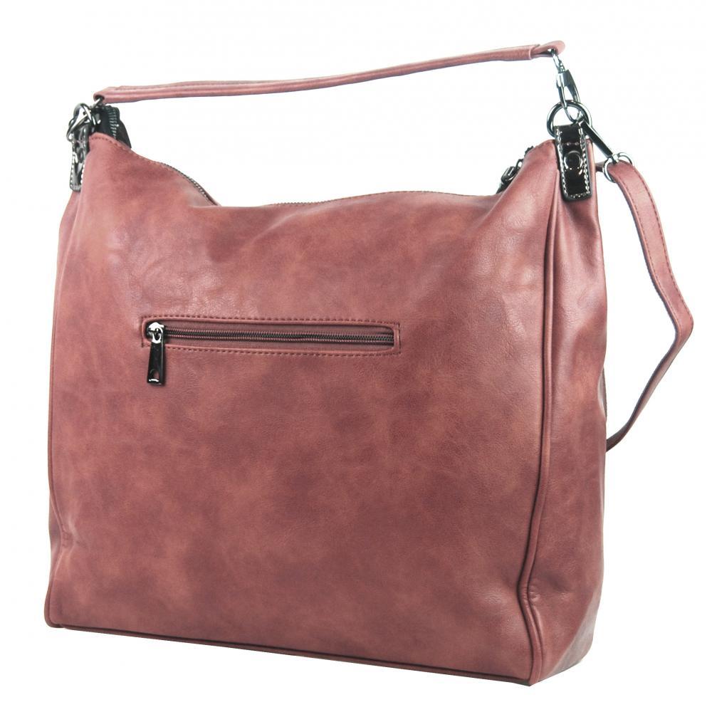 Velká růžová dámská kabelka přes rameno TESSRA