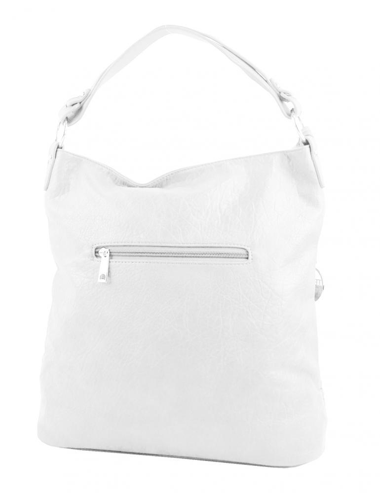 Bílá dámská kabelka / velká crossbody 3883-MM