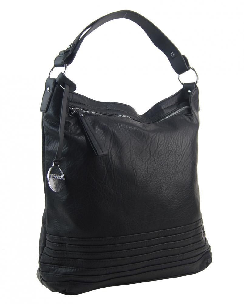 Černá dámská kabelka / velká crossbody 3883-MM