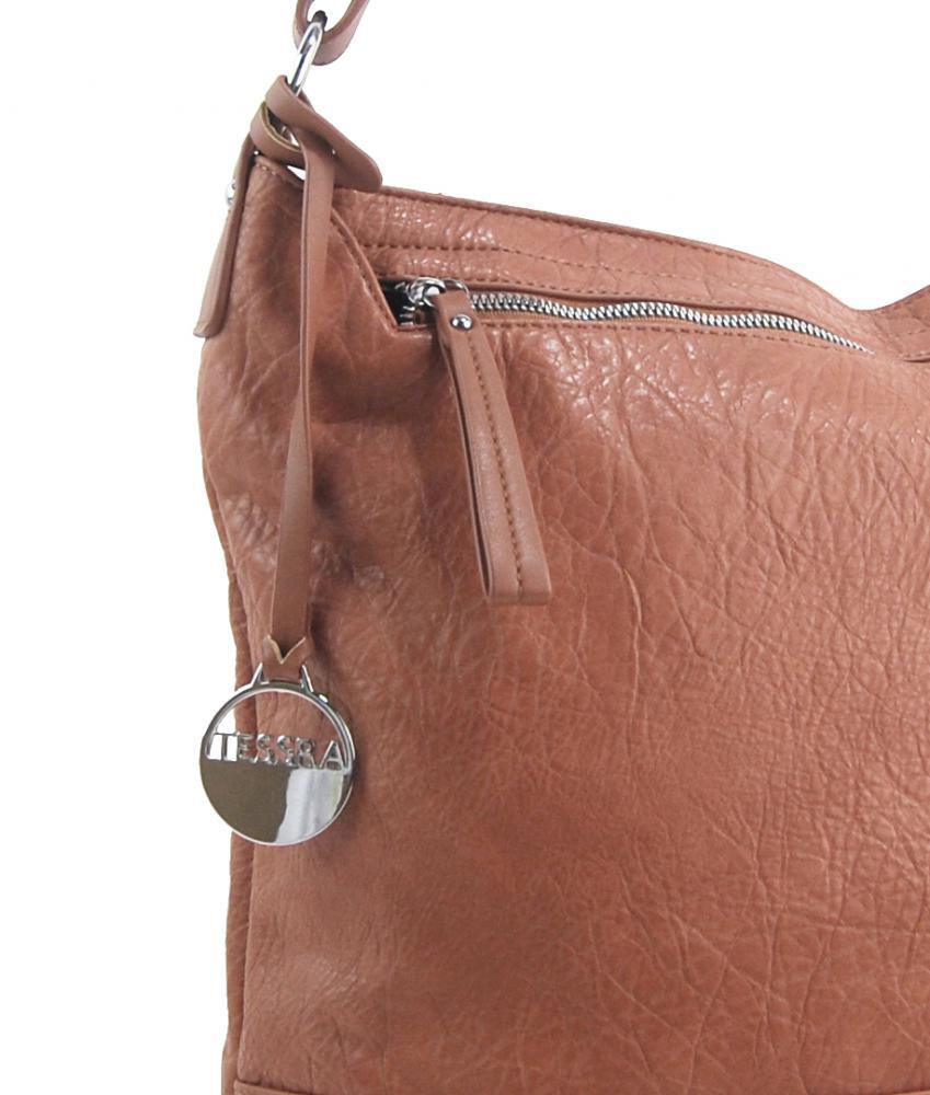 Hnědá dámská kabelka / velká crossbody 3883-MM