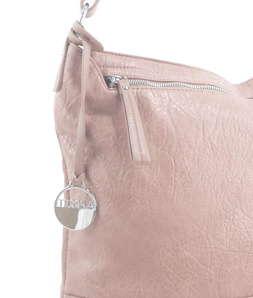 Svetlo ružová dámska kabelka / veľká crossbody 3883-MM