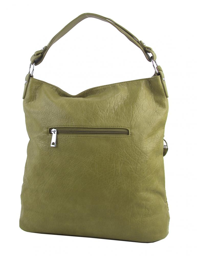 Olivovo zelená dámska kabelka / veľká crossbody 3883-MM