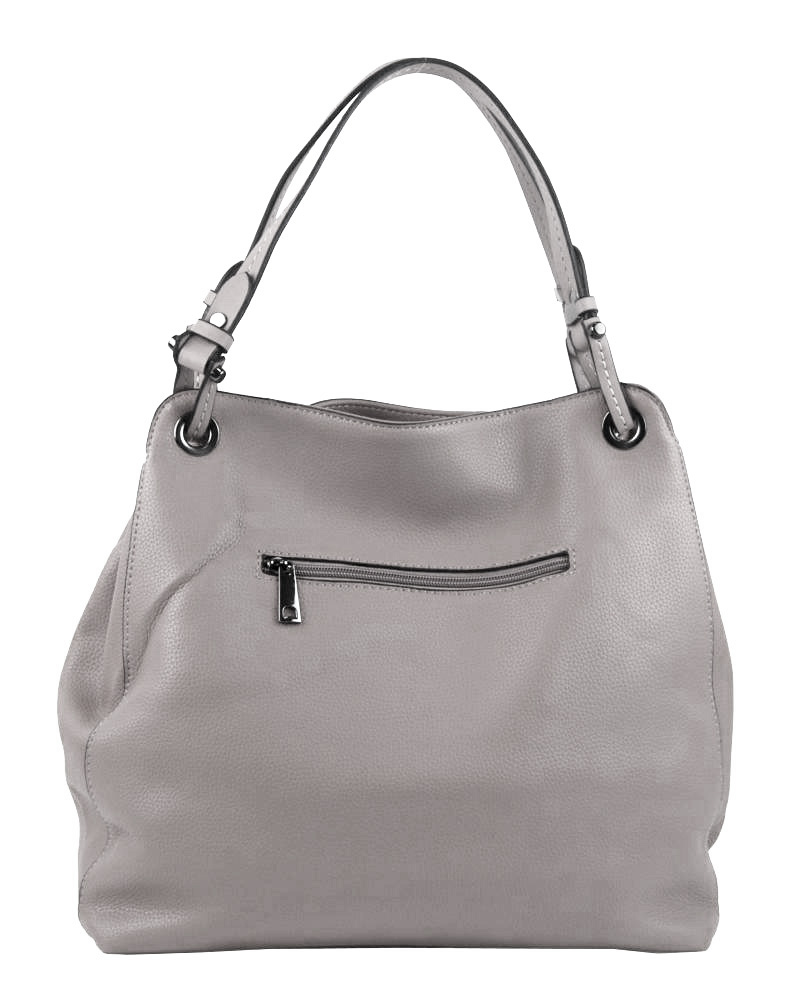 Svetlo sivá moderná kabelka cez plece 3990-BB