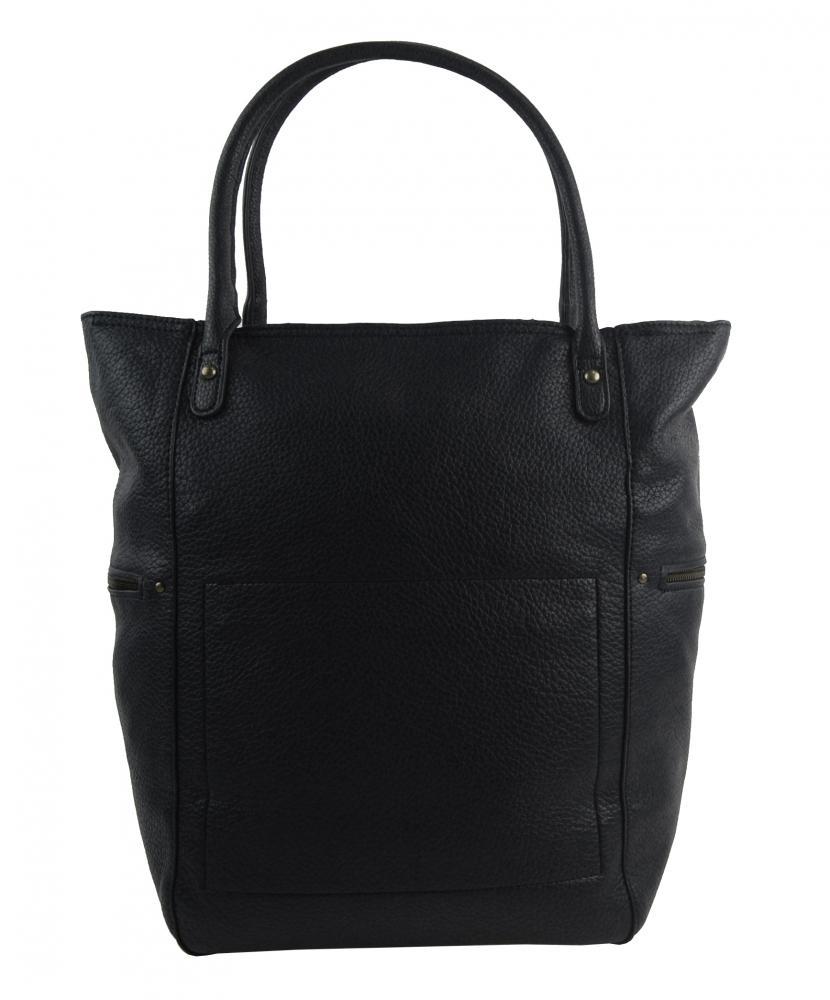 Velká černá dámská kabelka 5054-TS