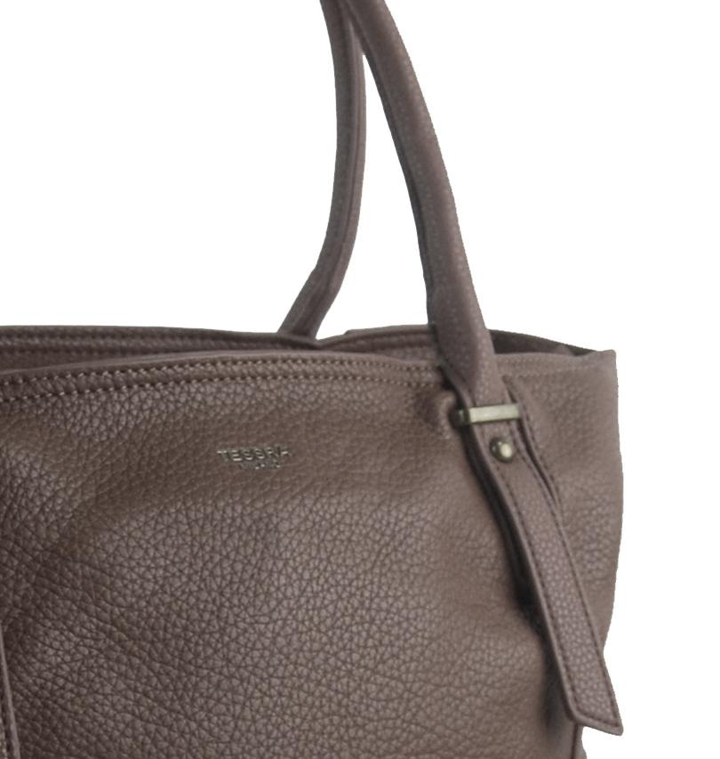 Veľká ílovo hnedá dámska kabelka 5054-TS