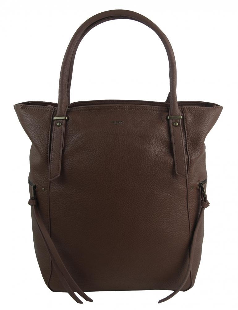 Velká tmavě hnědá dámská kabelka 5054-TS