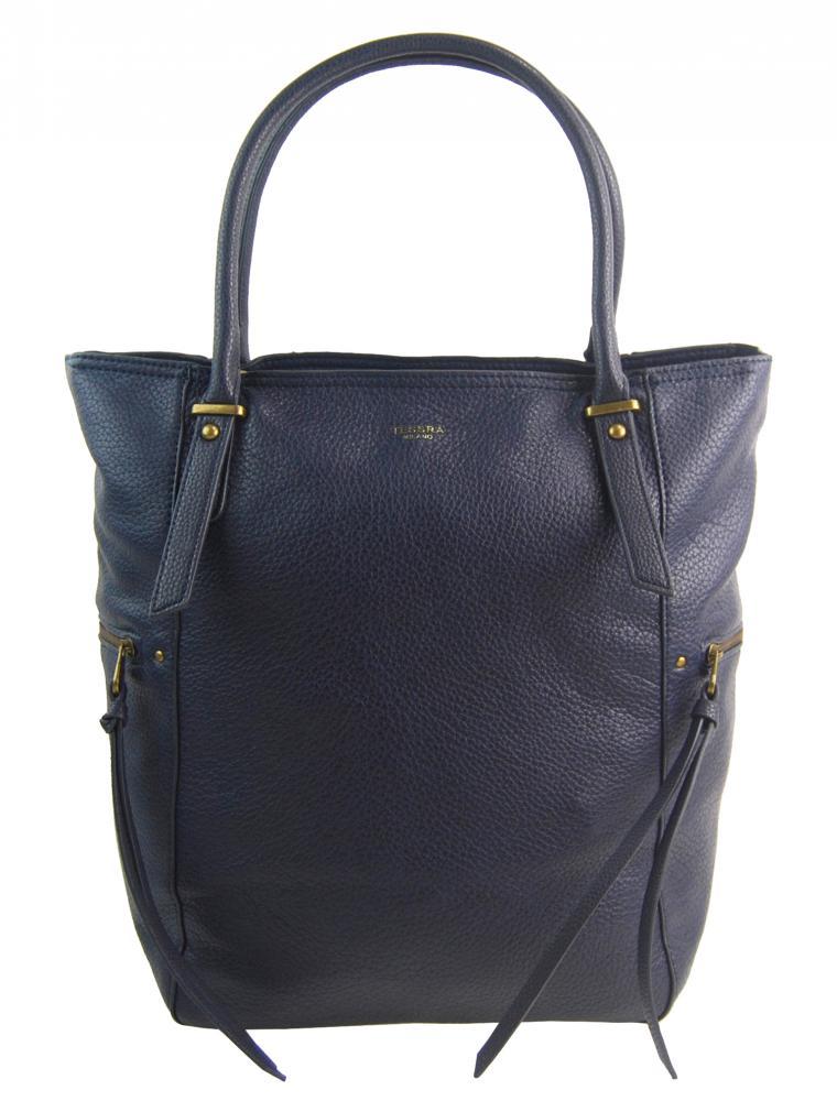 Velká tmavě modrá dámská kabelka 5054-TS