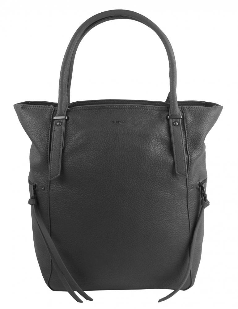 Velká tmavě šedá dámská kabelka 5054-TS